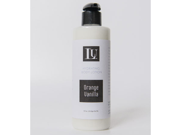 orange vanilla handmade body lotion